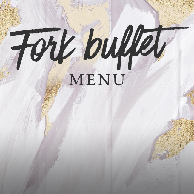Fork buffet menu at The Old Forge