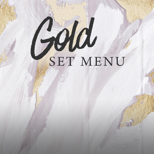 Gold set menu at The Old Forge
