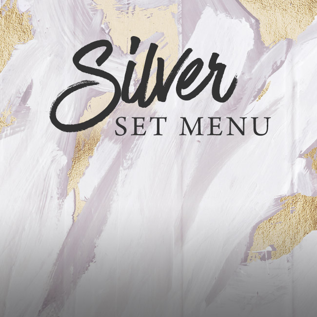 Silver set menu at The Old Forge