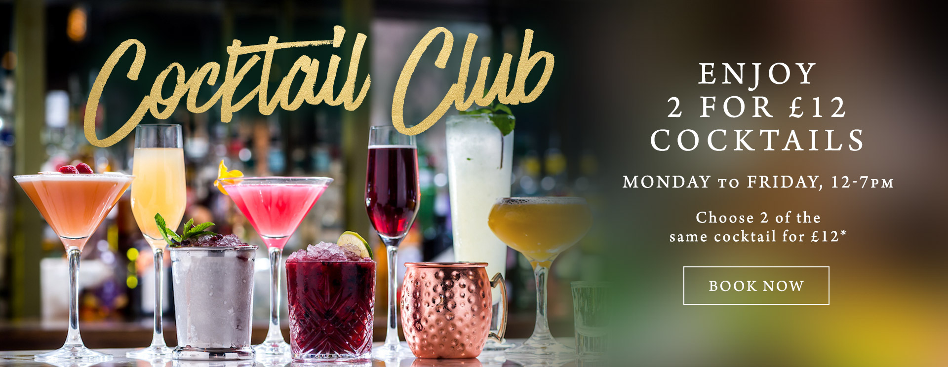 2 for £12 cocktails at The Old Forge
